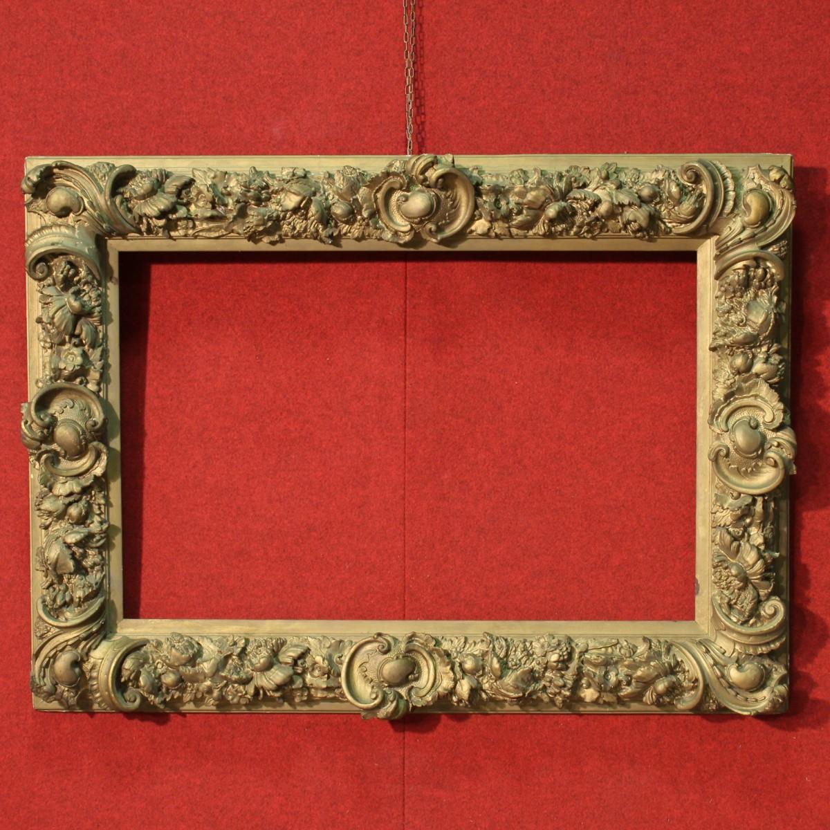 Cornice francese legno e gesso scolpita bronzata primi del - Cornice dei mobili ...