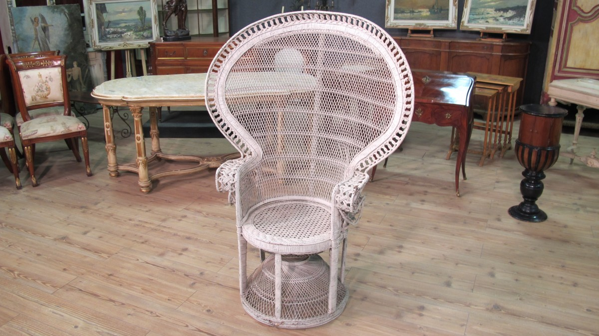 armchair wicker rattan furniture antique style vintage