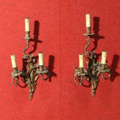 Coppia di lampadari da muro epoca 900