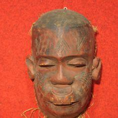 Scultura in legno dipinto a mano epoca 900