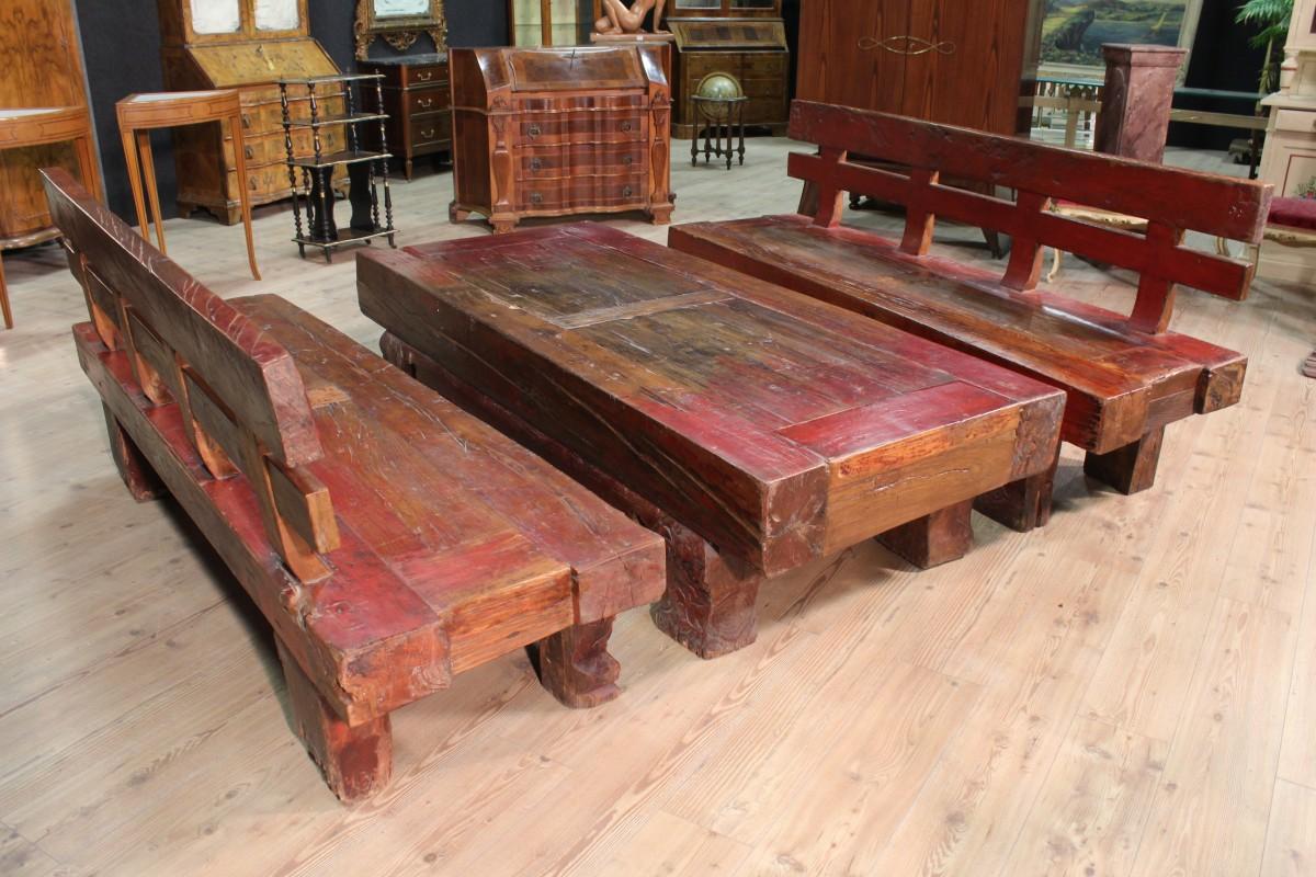 paar b nke tisch rot holz geschnitzte antik stil 900 xx. Black Bedroom Furniture Sets. Home Design Ideas