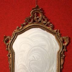 Antico specchio dorato laccato epoca 800