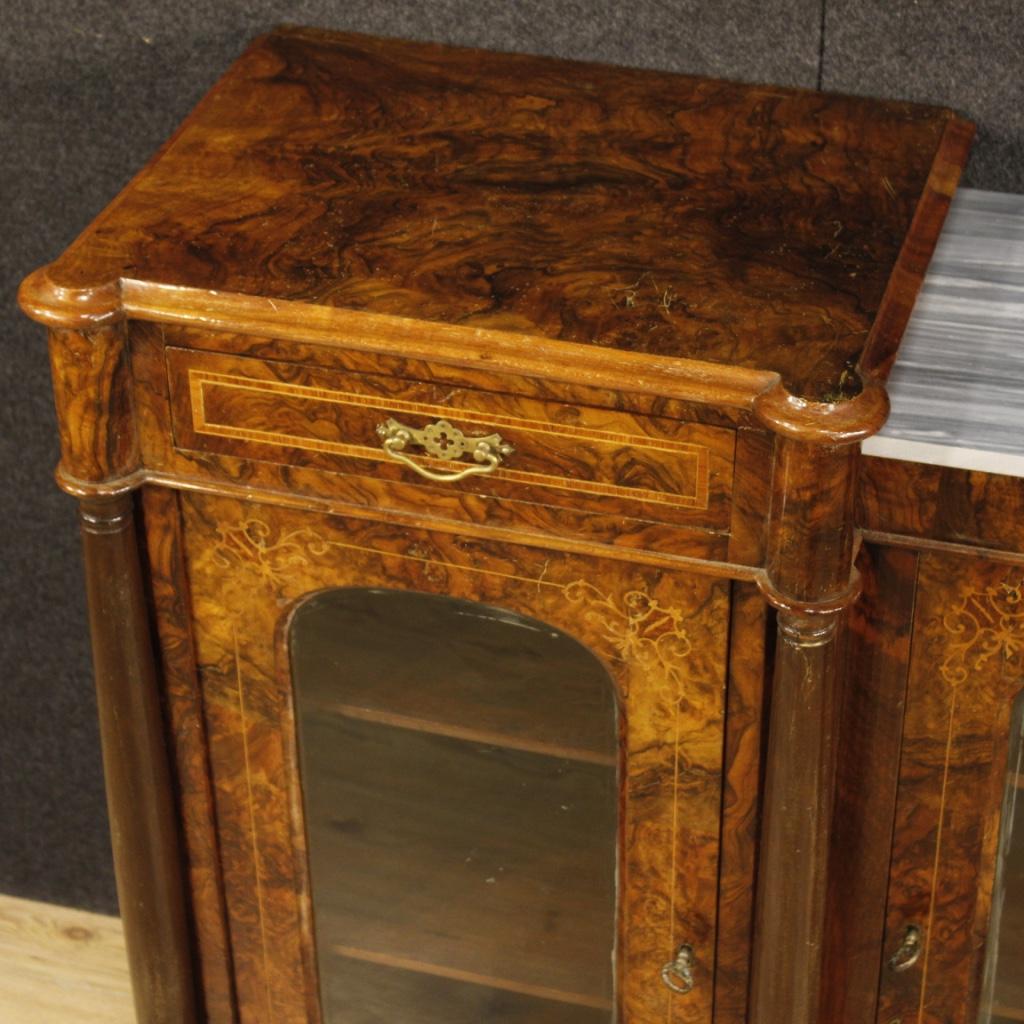 Mobile Credenza: Credenza English Mobile Servante Inlayed Wood 3 Door