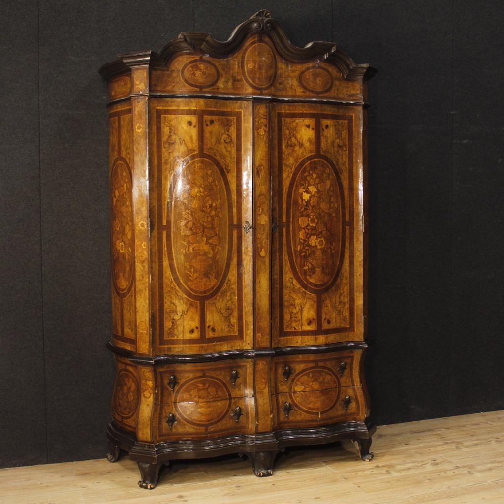 Dutch Wardrobe In Inlaid Wood