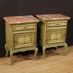 Mobili tavolini in legno dorato stile antico 900