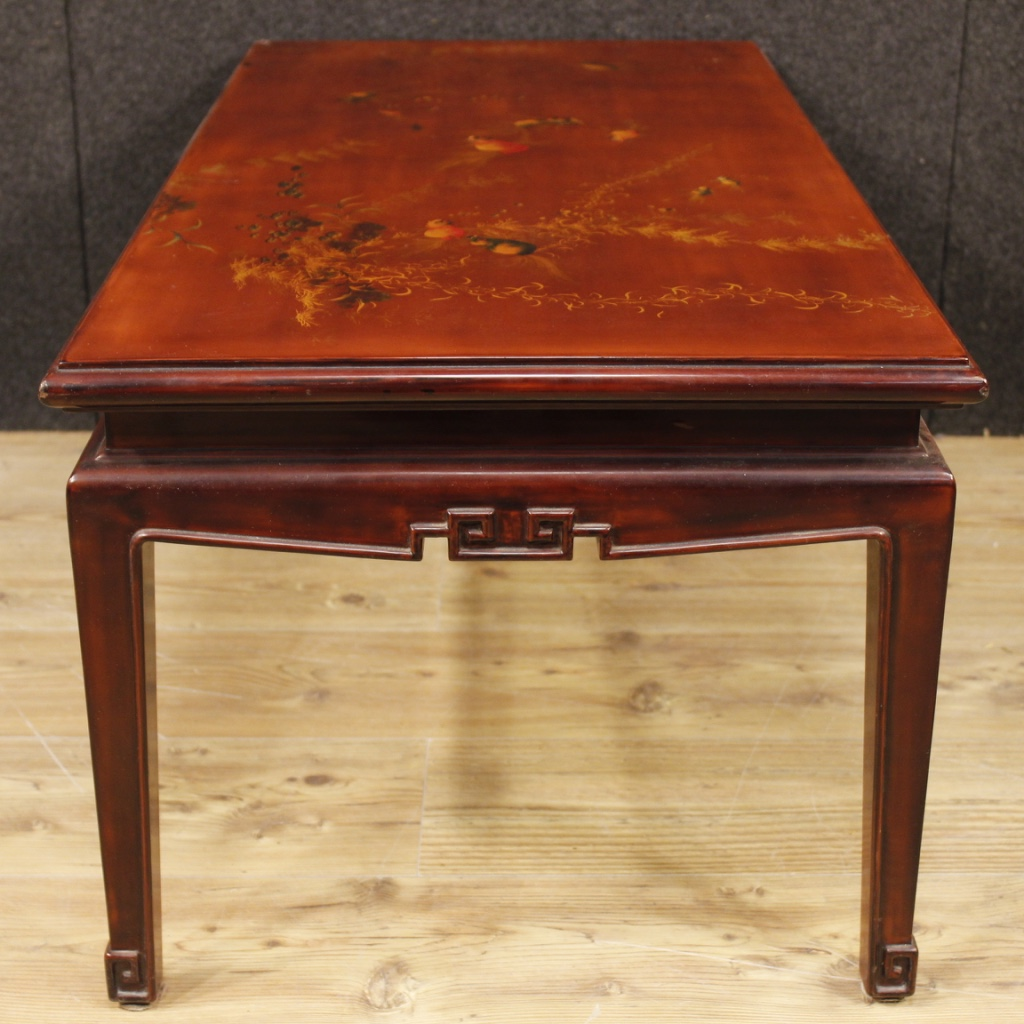 French Wood Coffee Table: Coffee Table Lacquered Mobile Table Low French Wood