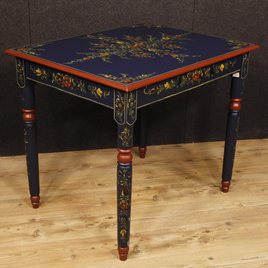 Side Tables For Living Room Details about Dutch table painted furniture wood flowers side table living  room antique style
