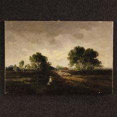 Quadro olio su tela in stile impressionista epoca 900