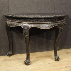 Mobile tavolo in legno stile antico salotto 900