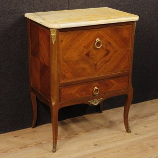 French commode in mahogany and rosewood with onyx top