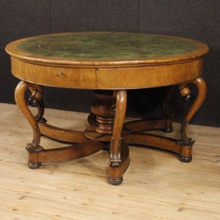 Antico tavolo italiano in legno di ciliegio del XIX secolo