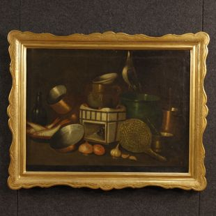 Spanish still life painting oil on canvas