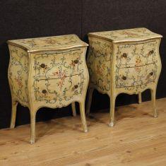 Tavolini in legno a 2 cassetti epoca 900
