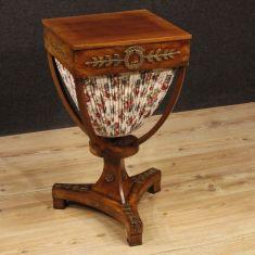 Mobile tavolo in legno e tessuto stile antico tavolo 800