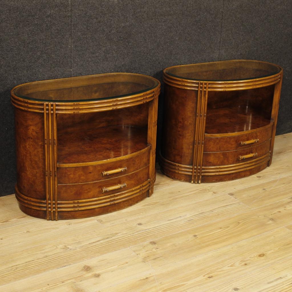 paar italienische design nachttische. Black Bedroom Furniture Sets. Home Design Ideas