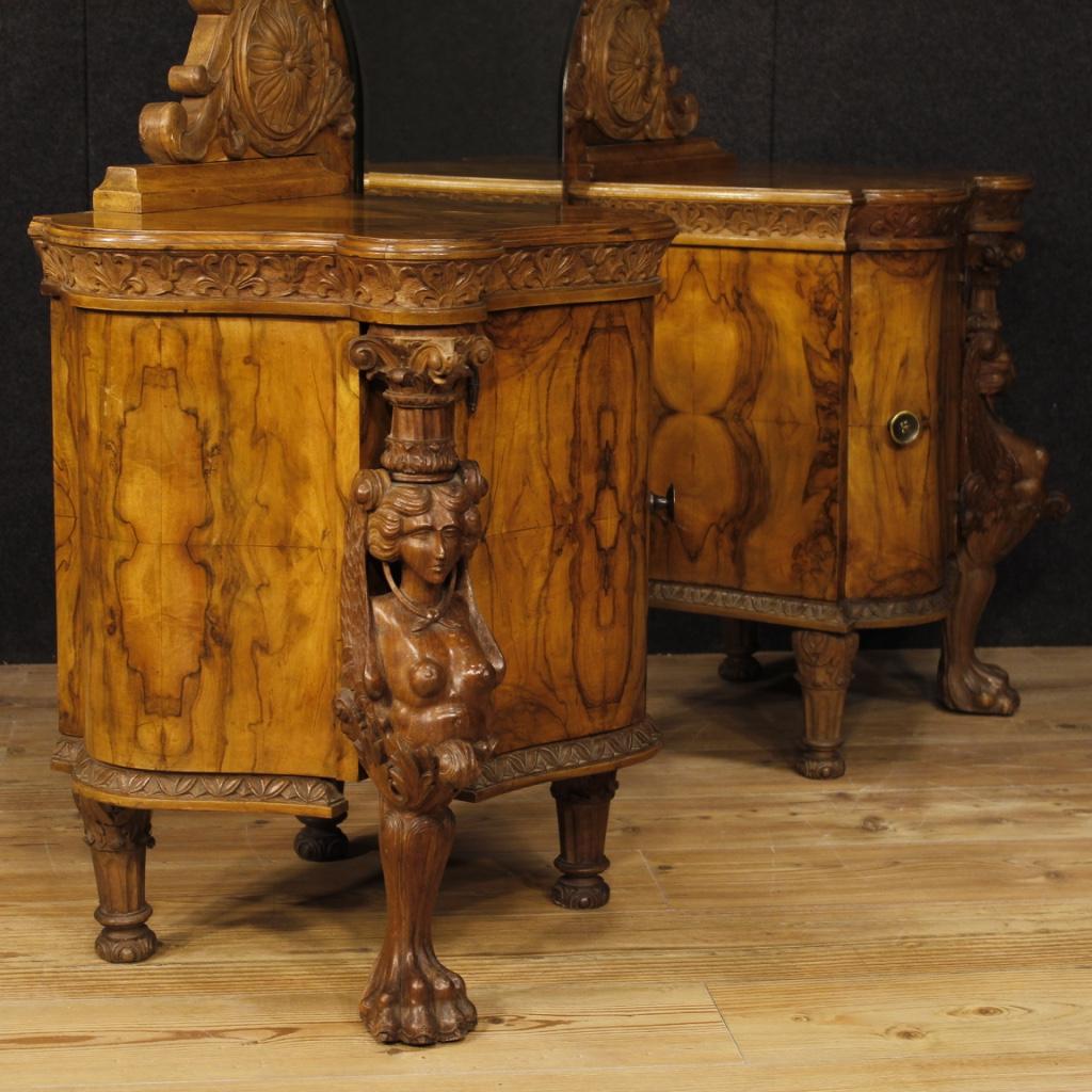 Annuncio: Psiche italiana in legno di noce e radica di noce • NowArc