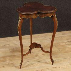 Tavolo comodino mobile con bronzi e ottone stile antico