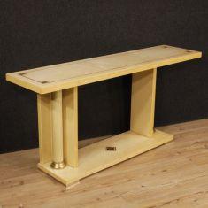 Mobile tavolo con intarsio in ottone epoca 900
