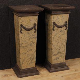 colonne in legno, marmo o gesso