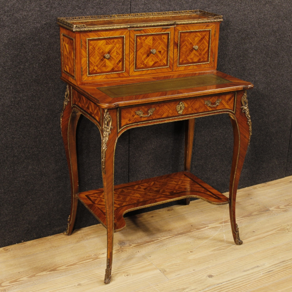 Wholesale Kitchen Cabinets Michigan: Small French Inlaid Writing Desk In Rosewood