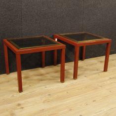 Coppia di tavoli bassi da salotto epoca 900