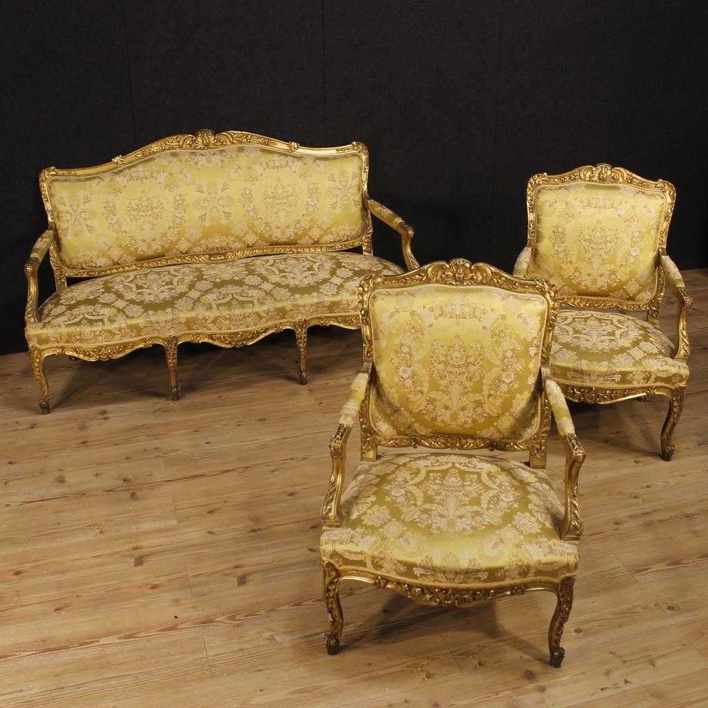 Annuncio: Antico divano dorato in stile Luigi XV del XIX secolo ...
