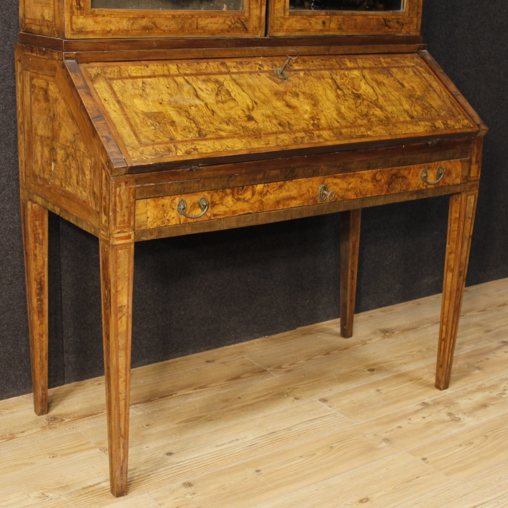 Ancien scriban meuble bureau secr taire commode en bois louis xvi 700 18 si cle ebay - Bureau bois ancien ...