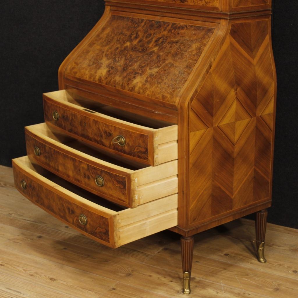 Trumeau ribalta mobile scrittoio italiano credenza legno for Specchio stile antico
