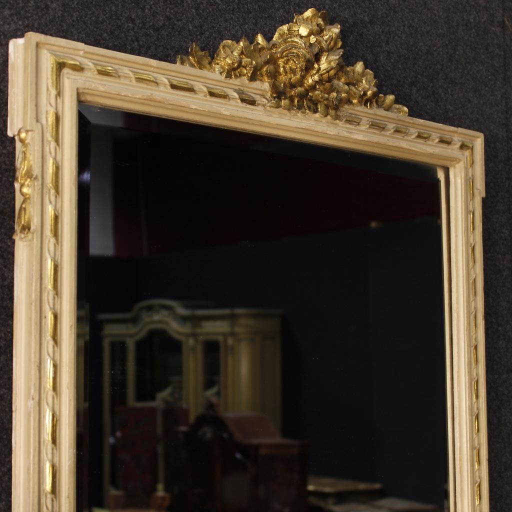 Konsole mit spiegel tisch lackiert holz antik stil ludwig xvi marmor 900 - Konsole mit spiegel ...