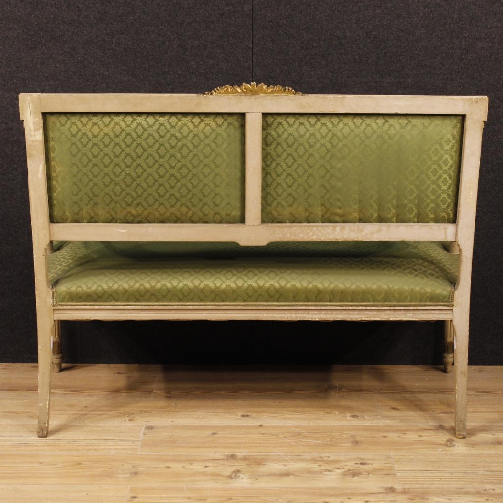 Canap italien laqu meuble salon sofa bois dor style Fabricant meuble italien