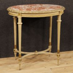 Mobile tavolo da salotto in legno dorato epoca 900