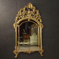 Specchio in legno scolpito e dorato epoca '900