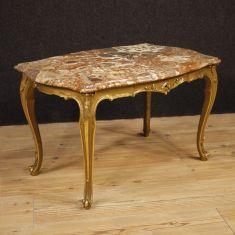 Tavolo basso da salotto in legno stile antico 900