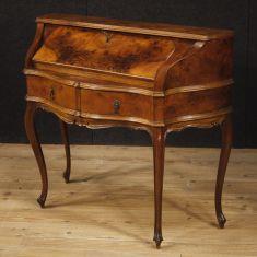 Mobile scrittoio secrétaire comò in legno stile antico 900