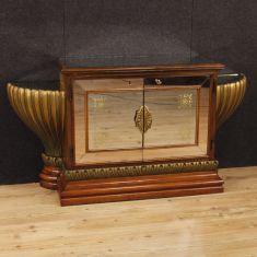 Mobile 2 ante in legno e specchi epoca 900