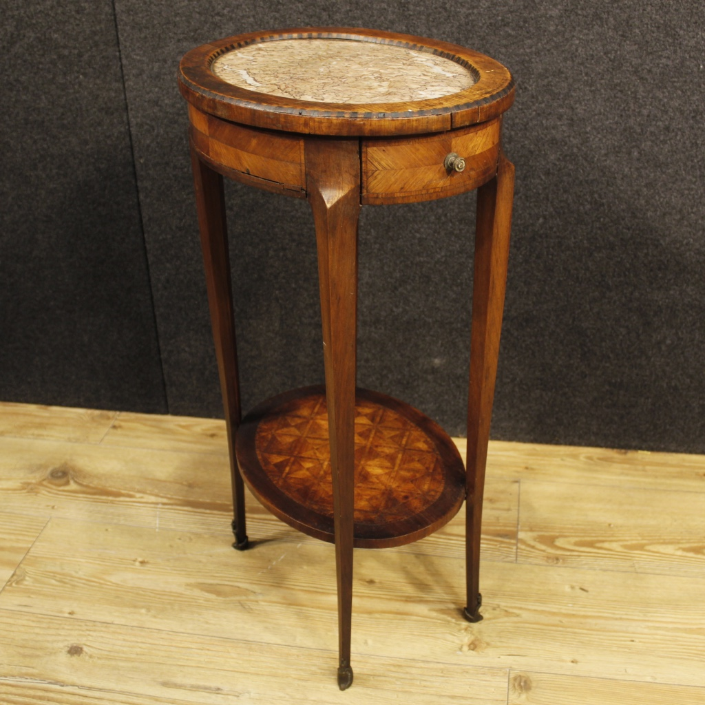 antique french inlaid side table from napoleon iii era