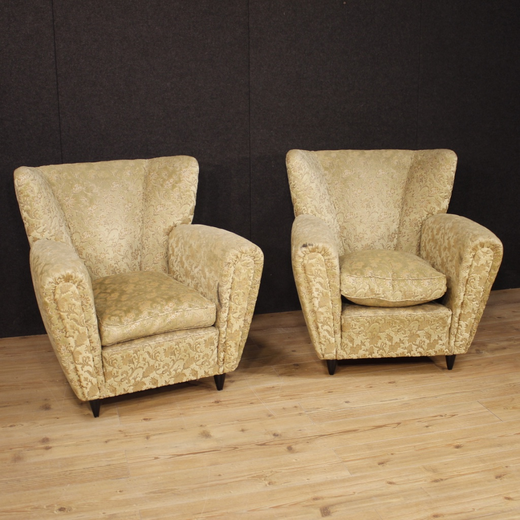 Armchairs Pair Of Chairs Living Room Furniture Seats Design Italian Fabric Furniture