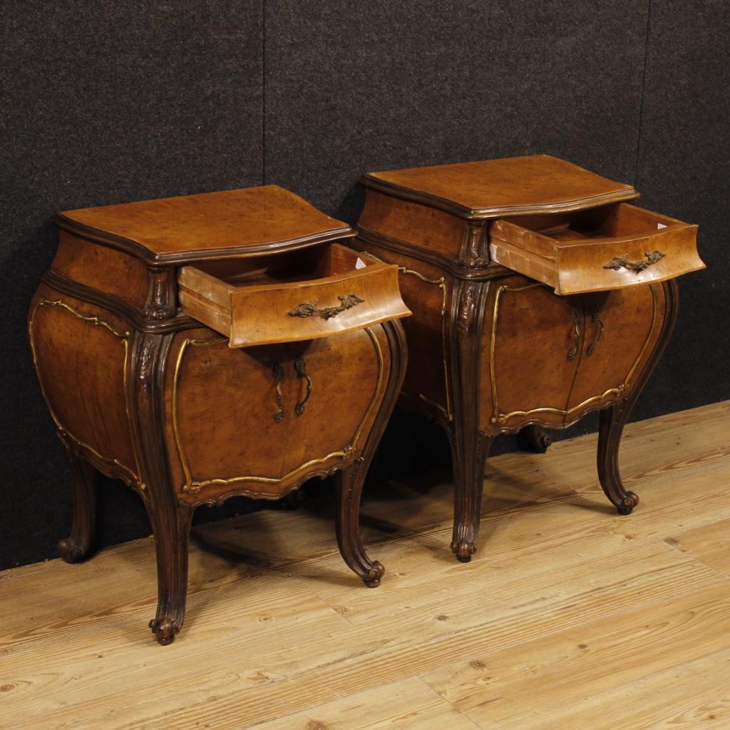 Coppia di comodini tavolini italiani mobili in legno stile - Mobili stile antico ...