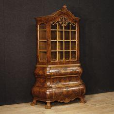Mobile libreria doppio corpo salotto stile antico 900