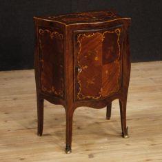 Tavolino mobile in legno 1 anta stile antico 900