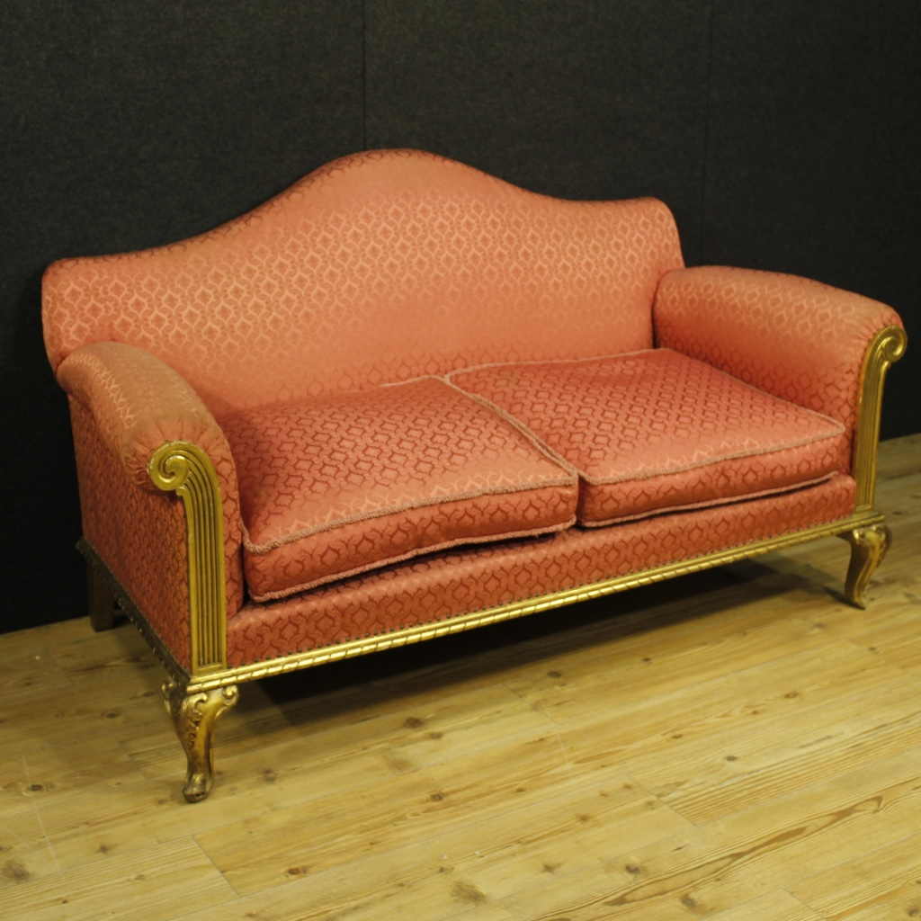 Spanish Sofa In Golden Wood
