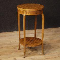 Mobile comodino salotto in legno stile antico 900