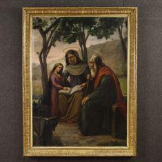 Quadro olio su tela firmato e datato P. Arri 1898