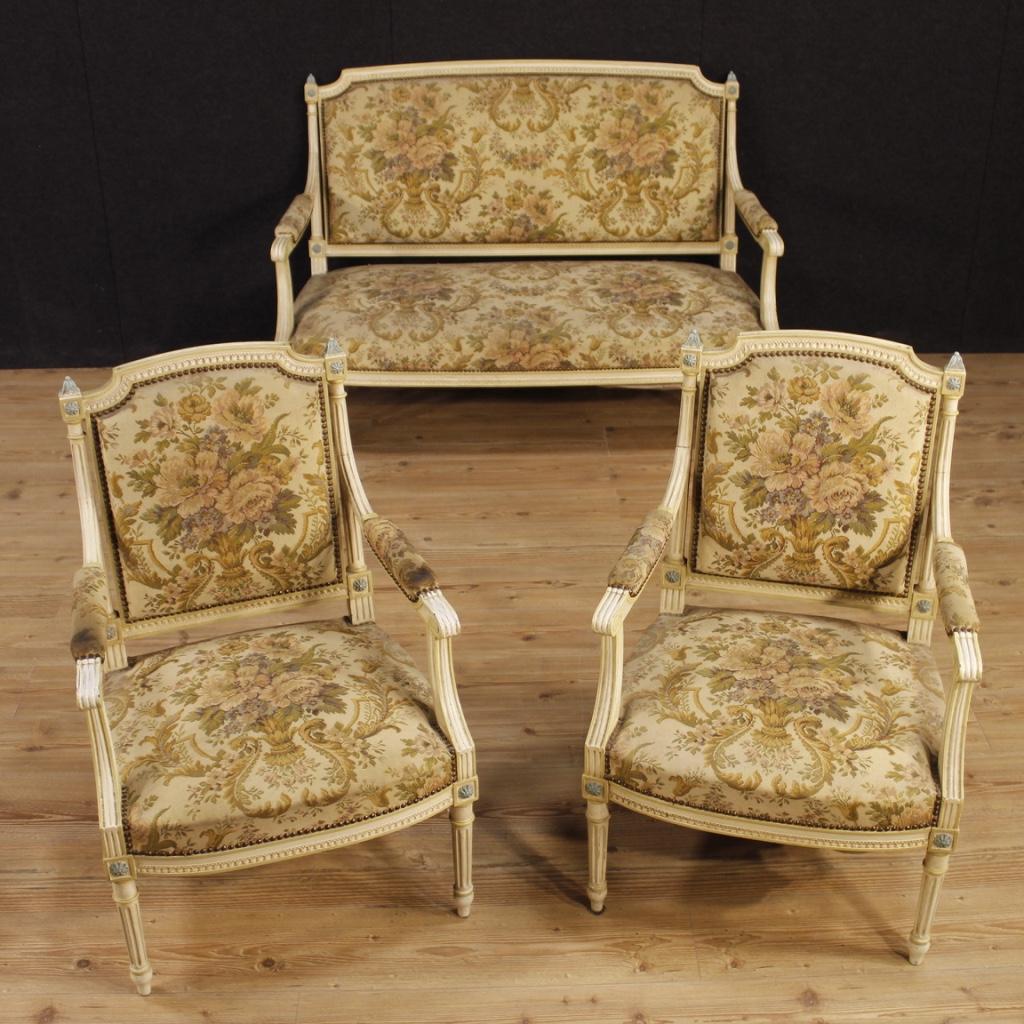sofa lackiert franz sisch couch m bel antik stil ludwig xvi holz sessel 900 ebay. Black Bedroom Furniture Sets. Home Design Ideas