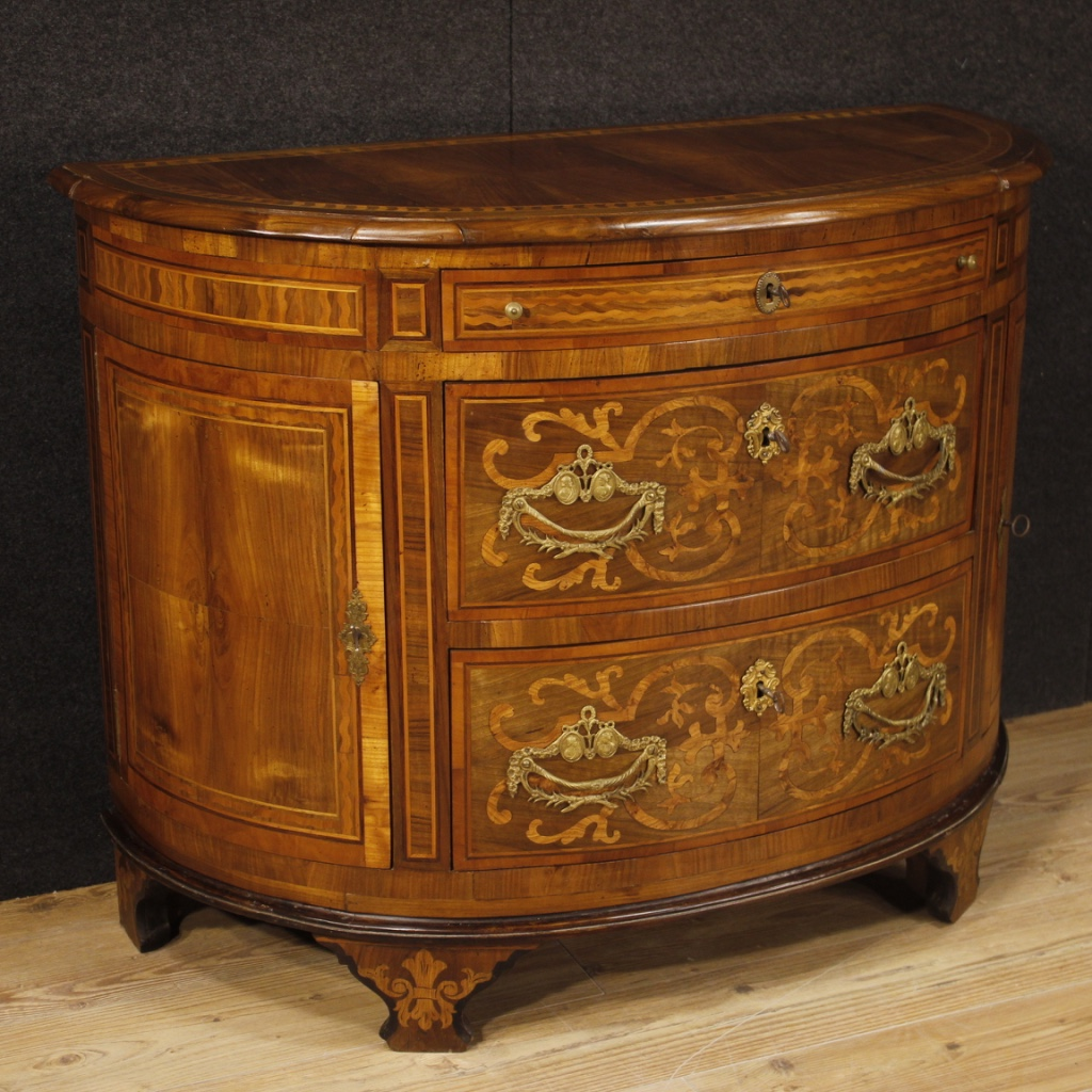 Antique Louis Xvi Dresser Commode Chest Of Drawers In Walnut Antique Furniture Chests Of Drawers Italy 18th