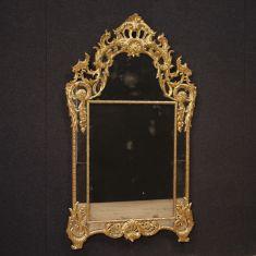 Specchio mobile cornice in legno stile antico 900