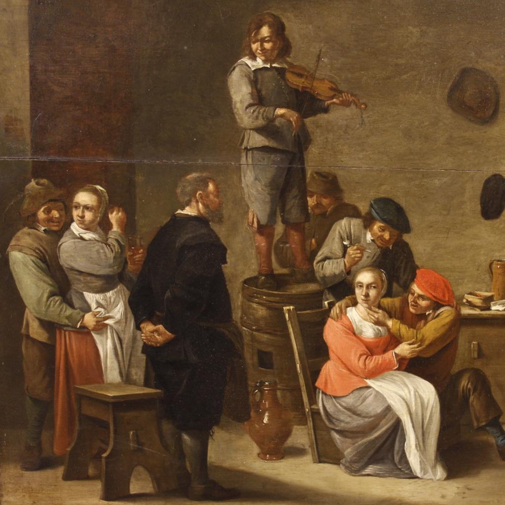 Annuncio antico dipinto olandese scena d 39 interno del xix for Piani di fattoria del 19 secolo