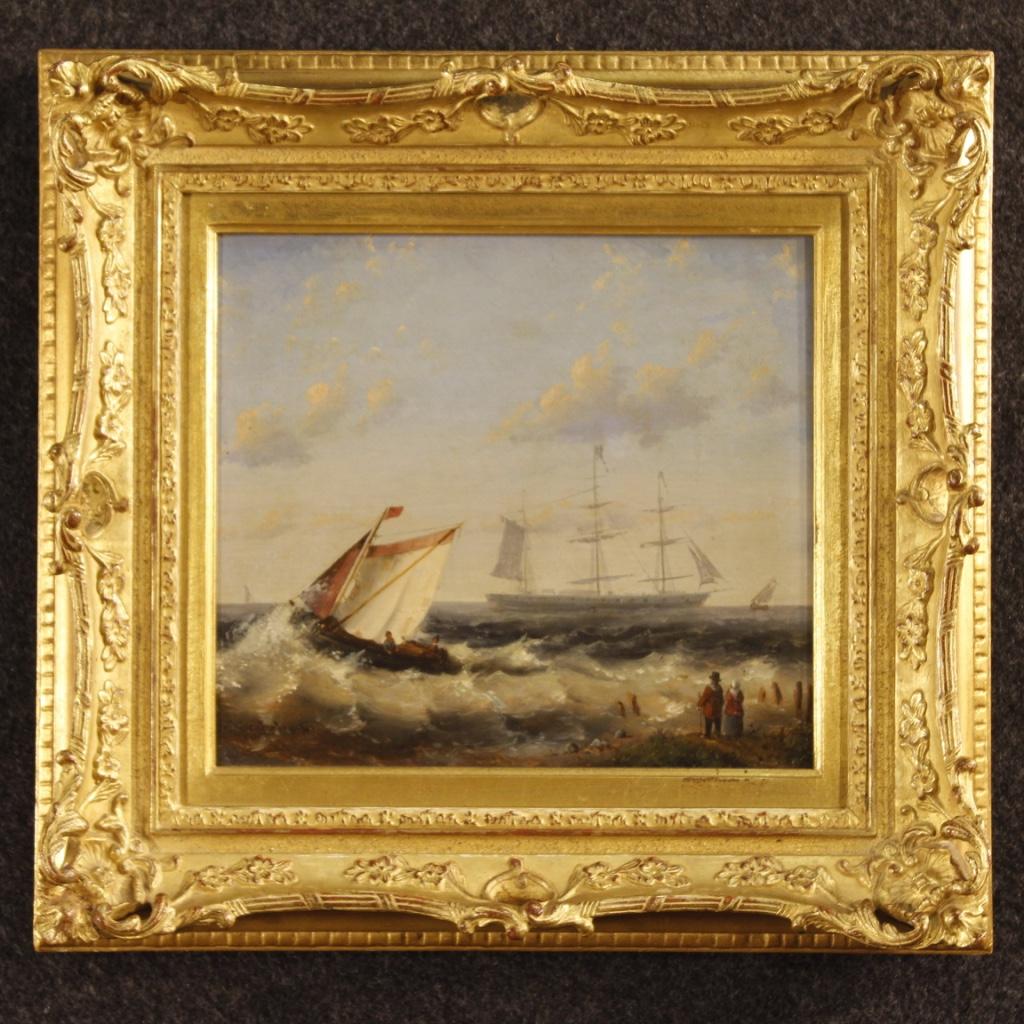 Dutch Seascape Painting Signed Moerkerken