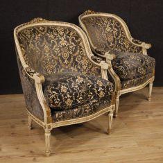 Mobili sedie salotto stile antico in velluto epoca 900