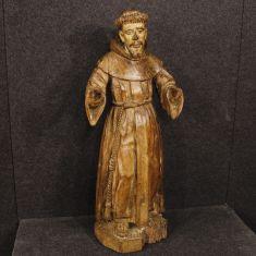 Statua arte sacra in legno epoca 700